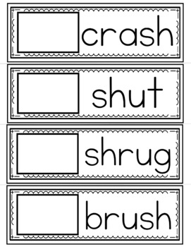 Easy Word Study (Digraphs SH and CK)