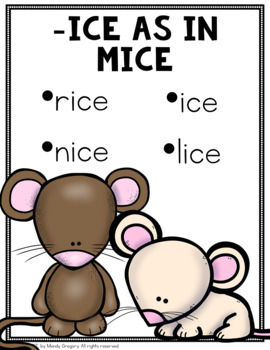 Easy Word Study (Word Family -ice and -ire)