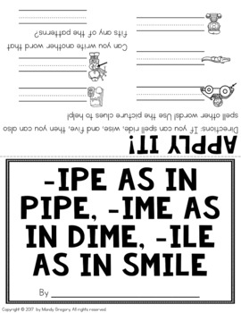 Easy Word Study (Word Family -ipe, -ime, and -ile)