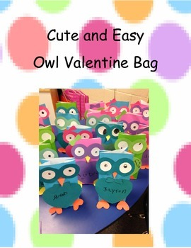 Easy and Cute Owl Valentine Bags