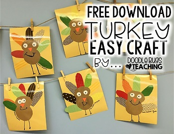 Free, Easy and Cute Turkey Craft Project
