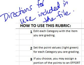 Easy and Efficient Grading Rubric for General Use
