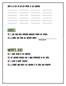 Easy and Efficient Writer's Checklist *FREEBIE*
