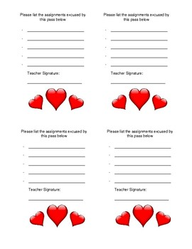 Easy and Free Student Valentine- Free Homework Coupon