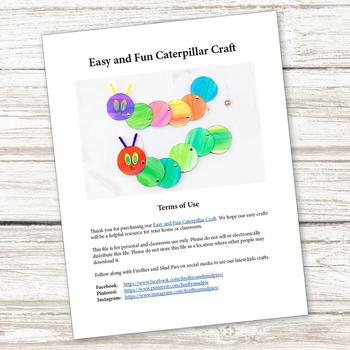Easy and Fun Caterpillar Craft (Spring or Eric Carle)