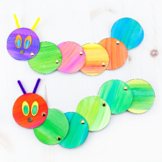 Easy and Fun Caterpillar Craft (Spring or Eric Carle)