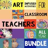 Art Project BUNDLE: Art Activities Including Thanksgiving & Christmas Activities