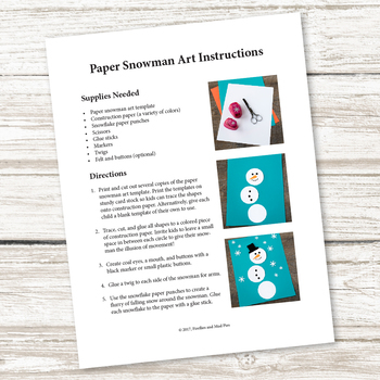 Easy and Fun Paper Snowman Art (Winter)
