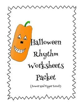 Easy and Intermediate Halloween Rhythm Worksheets