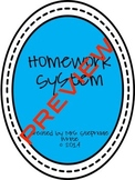 Easy and Organized Homework System