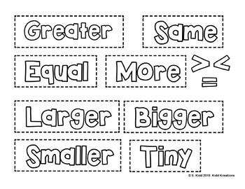 Easy and Reusable Math Anchor Charts - Comparing Numbers