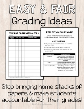Easy and Fair Grading: Upper Grade Ideas For New Teachers