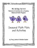 Easy as 1-2-3 (Seasonal Math Mats and Activities)