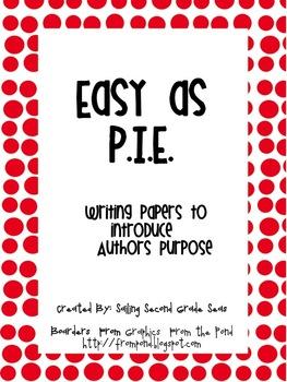 Easy as P.I.E.! Introducing Author's Purpose