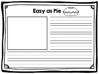 Easy as Pie Craft and Writing