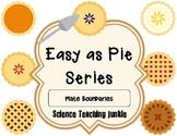 Easy as Pie - Convergent, Divergent and Transform Boundaries