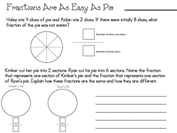 Easy as Pie Fraction Practice