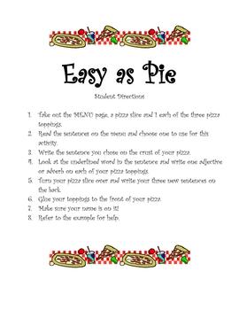 Easy as Pie - Literacy Center