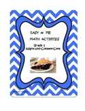 Easy as Pie Math Activities Grade 1