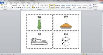 Easy as Pie - Words with IE and Y - Phonics Board Game