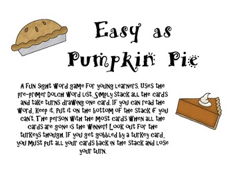 Easy as Pumpkin Pie