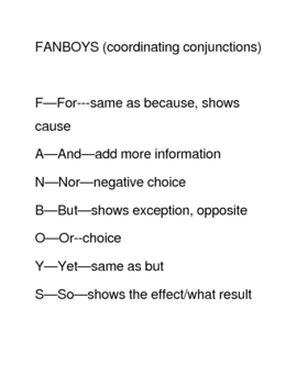 Easy coordinating conjunctions