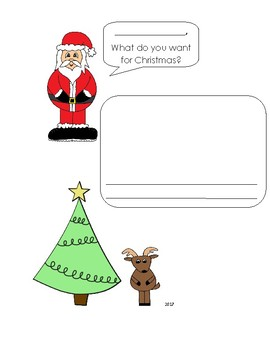 Easy draw a picture Santa letter