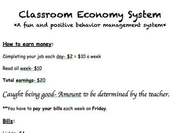 Easy editable Classroom Economy System