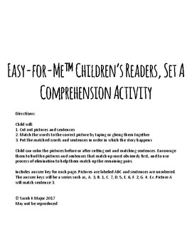 Easy-for-Me™ Children's Readers Set A - Comprehension Activity