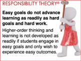Easy goals do not advance potential as readily as hard goa