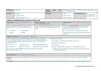 Easy step by step guide to writing MYP unit planners - Language Acquisition
