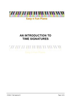 Easy n Fun: An Introduction to Time Signatures