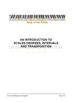 Easy n Fun: An Introduction to Scale Degree Numbers, Intervals & Transposition