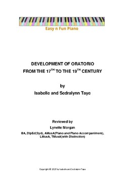 Easy n Fun: Development of Oratorio from the 17th to the 19th Century