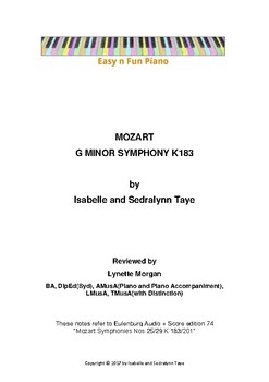 Easy n Fun: Analysis of Mozart Symphony in G minor K183