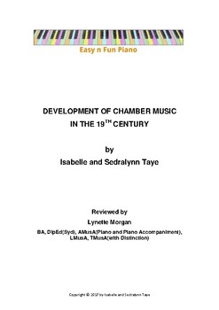 Easy n Fun: Development of Chamber Music in the 19th Century