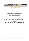 Easy n Fun: Key Signature Review and Worksheets (sharps)