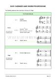 Easy n Fun: Easy Cadence Chart