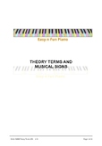 Easy n Fun: Theory Terms & Musical Signs