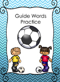 Easy no prep guide words practice