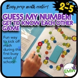 Easy prep Get to know you math game Guess My Number