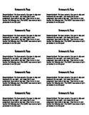 Easy printable homework passes
