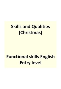 Easy read - Christmas theme - Applying for a job