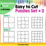 Easy to Cut Puzzle Blank Templates Set #2