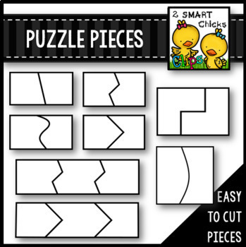 Easy to Cut Puzzle Pieces Clip Art