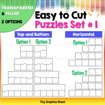 Easy to Cut Puzzle Blank Templates Set #1