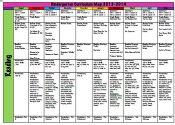 Easy to Edit Curriculum Map
