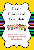 Easy to Edit Flashcard Template