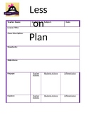 Easy to Follow Lesson Plan Template