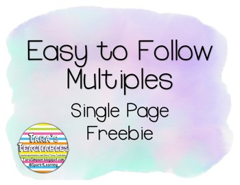 Easy to Follow Multiples Single Page